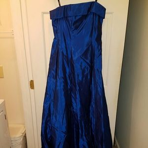 Iridescent Blue Prom Formal Dress